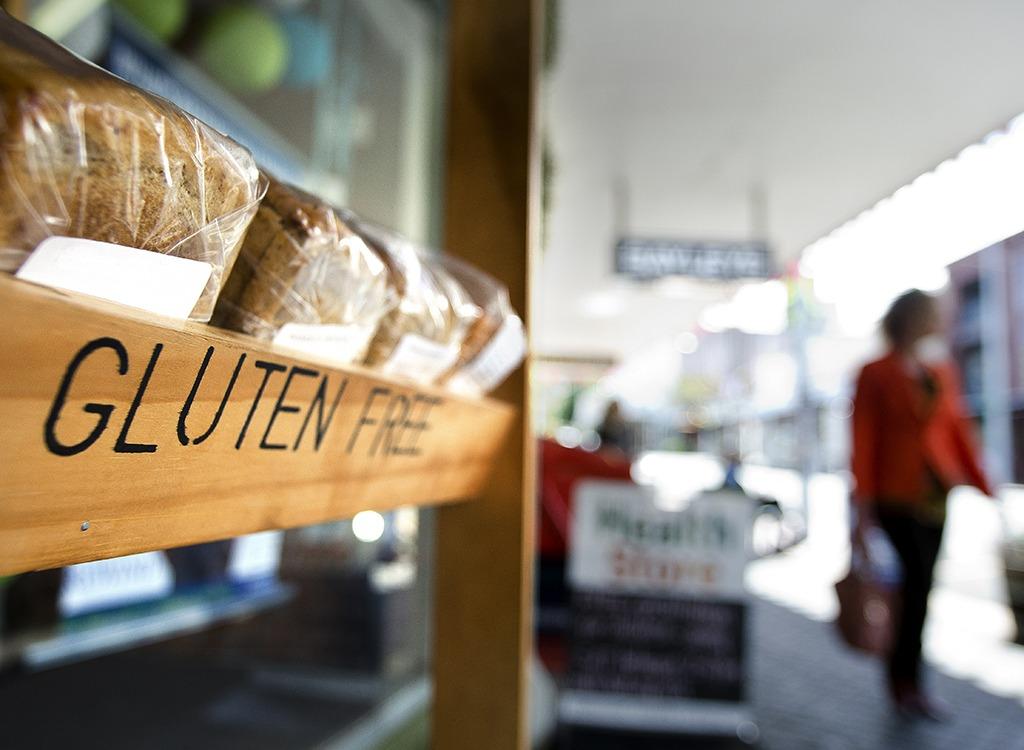 Shelf of gluten-free bread