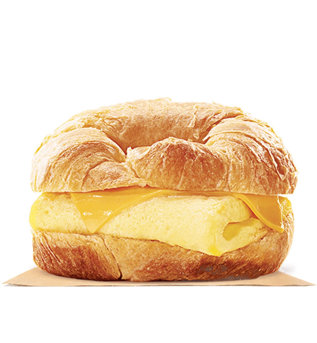 burger king egg and cheese croissanwich