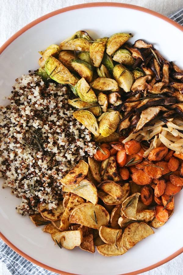 Bowl roundup herb roasted veggie bowl