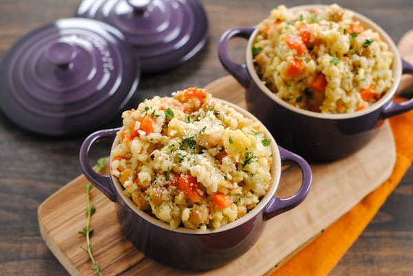 Surprising Chickpea Recipes Slow Cooker Barley and Chickpea Risotto