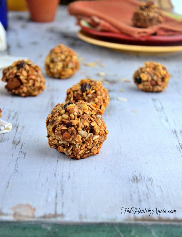 healthy dessert recipes - sunflower seed cranberry balls