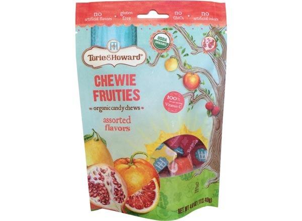 torie & howard chewie fruities organic candy chews, assorted flavors