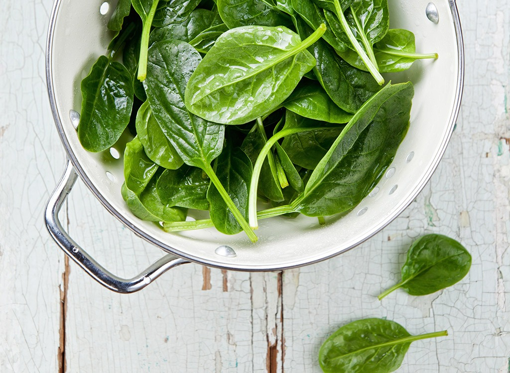 best hangover cure foods - spinach