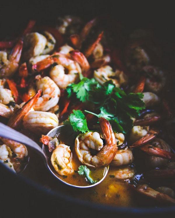 Shrimp recipes White Wine Garlic Chili Shrimp