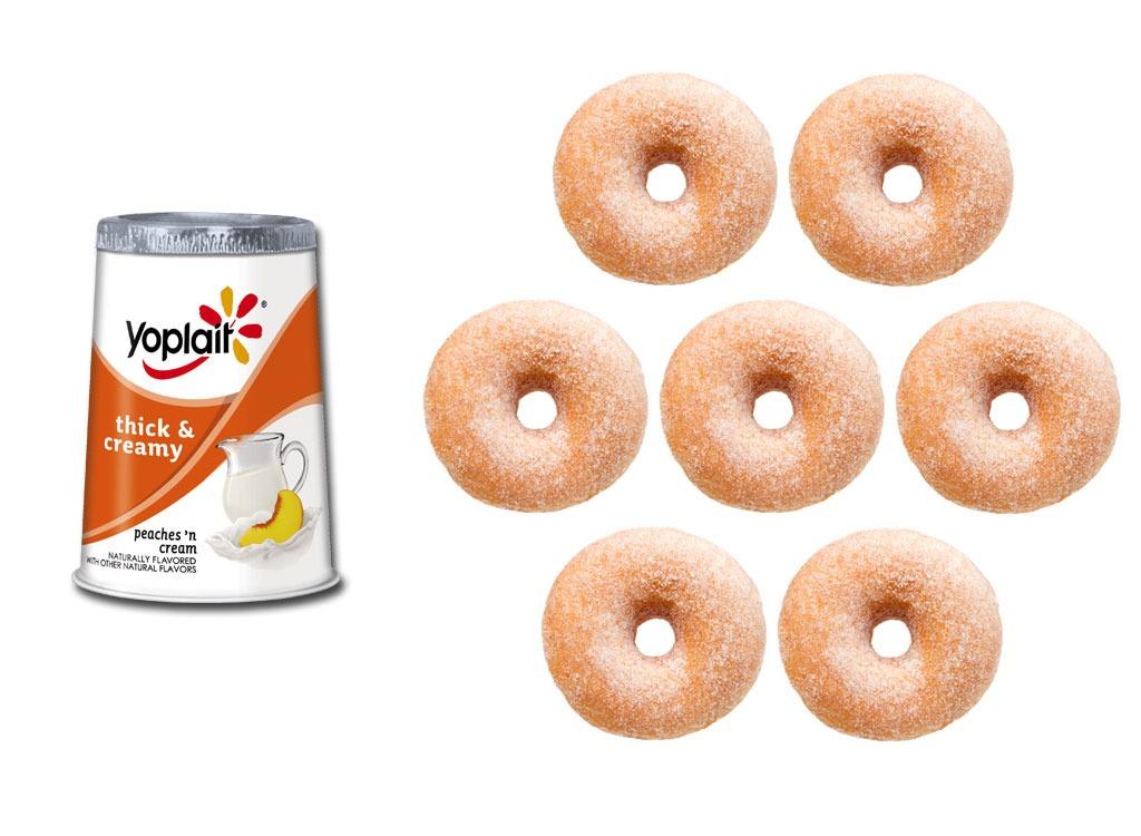Foods worse than donut fruit yogurt