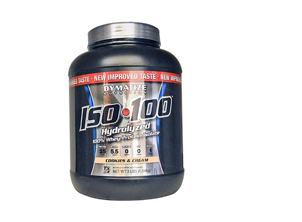 iso 100 protein powder cookies and cream