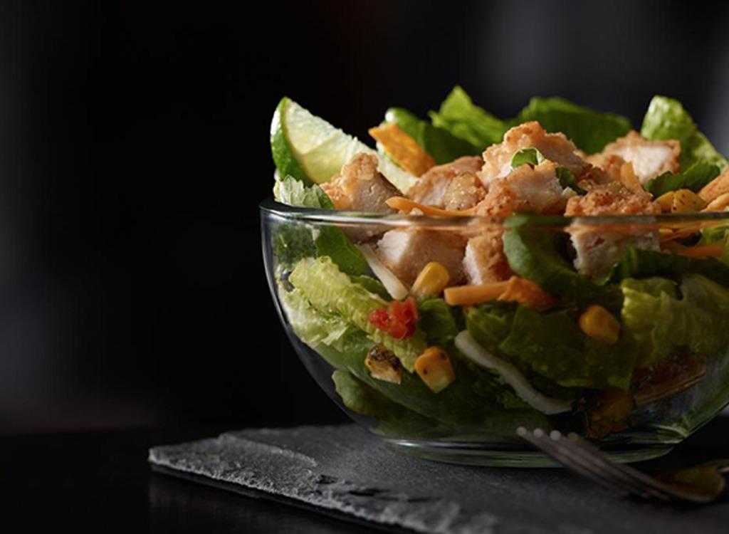 McDonald's southwest salad with buttermilk crispy chicken