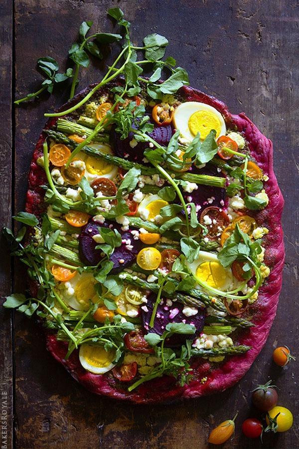 Flourless pizza beets