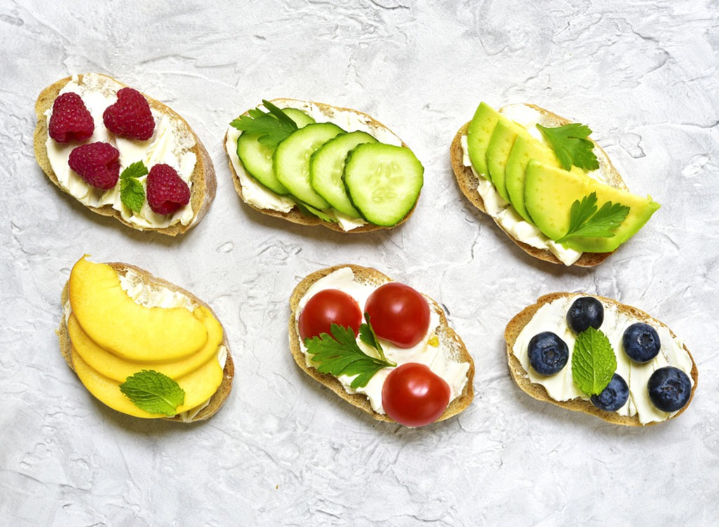 Ricotta toast toppings - foods for energy