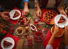 Passing pie at Thanksgiving