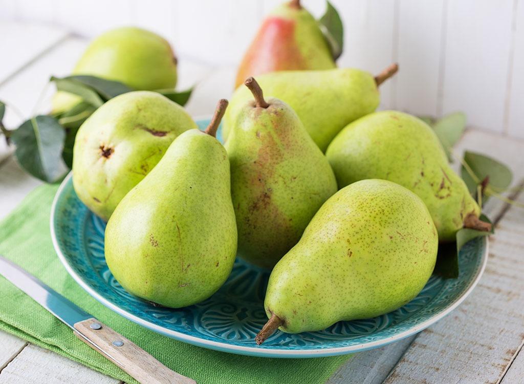 best hangover cure foods - pear juice