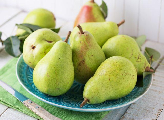 Sugary fruits ranked pear