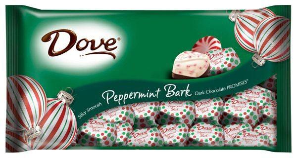 DOVE PEPPERMINT BARK DARK CHOCOLATE SQUARES