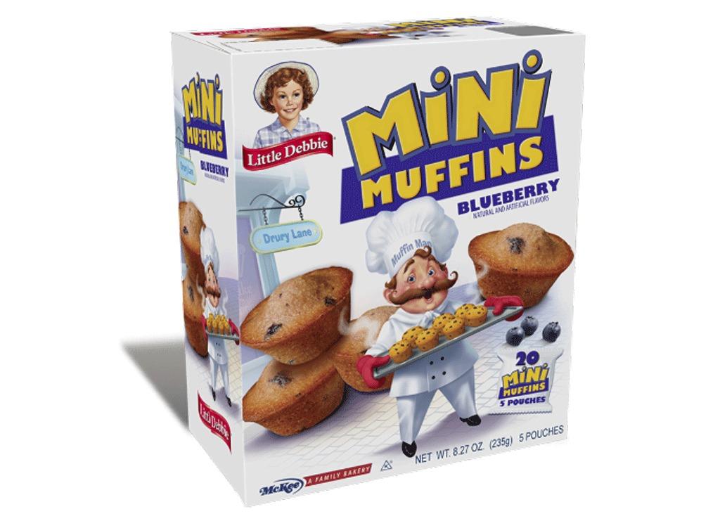 mini muffins: blueberry