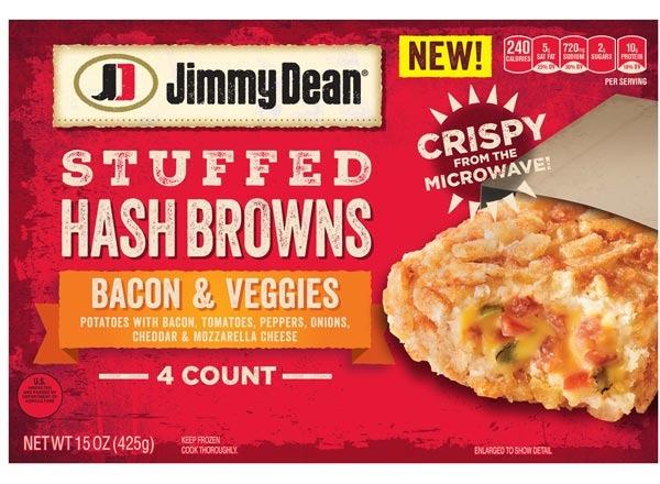 jimmy dean bacon & veggies stuffed hash browns