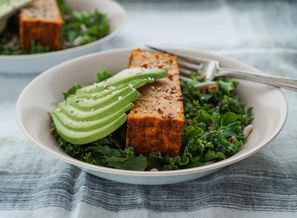 Avocado kale tofu