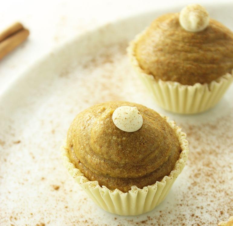 healthy dessert recipes - white chocolate pumpkin truffles