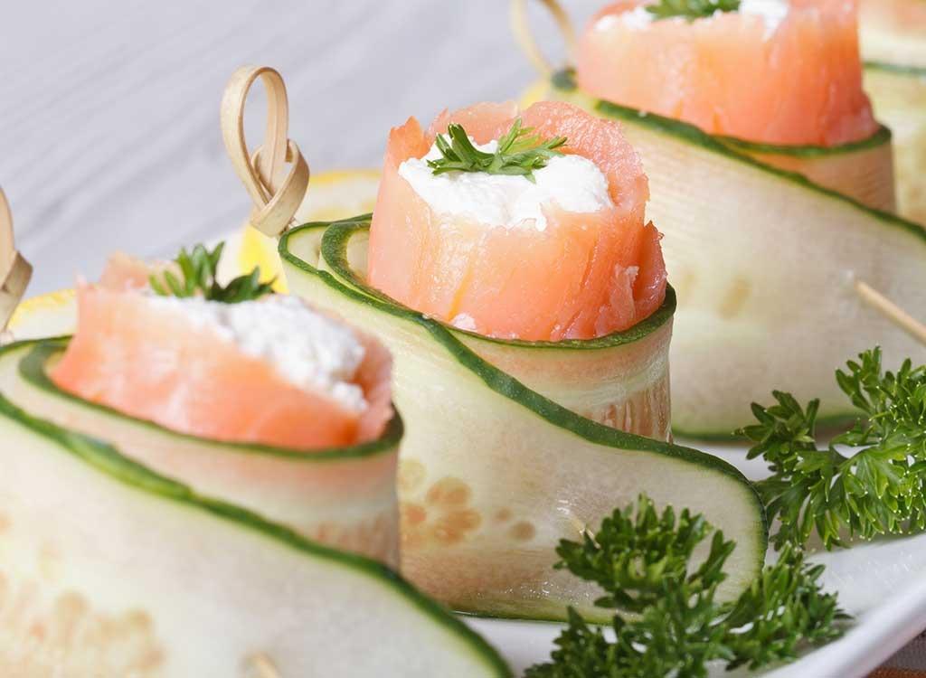 salmon cucumber roll up
