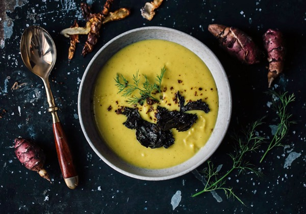 Butternut Squash and Sunroot Soup