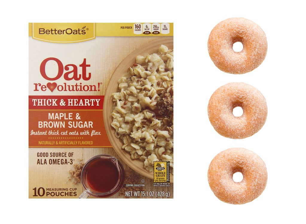 Foods worse than donut oatmeal