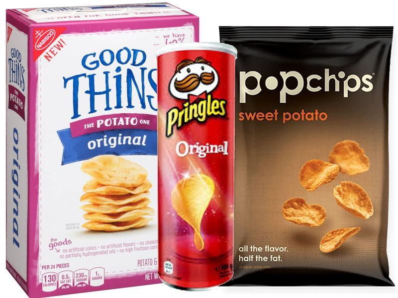 Untrustworthy foods potato snacks