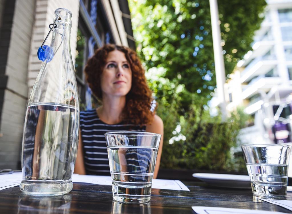 Bottled water restaurant