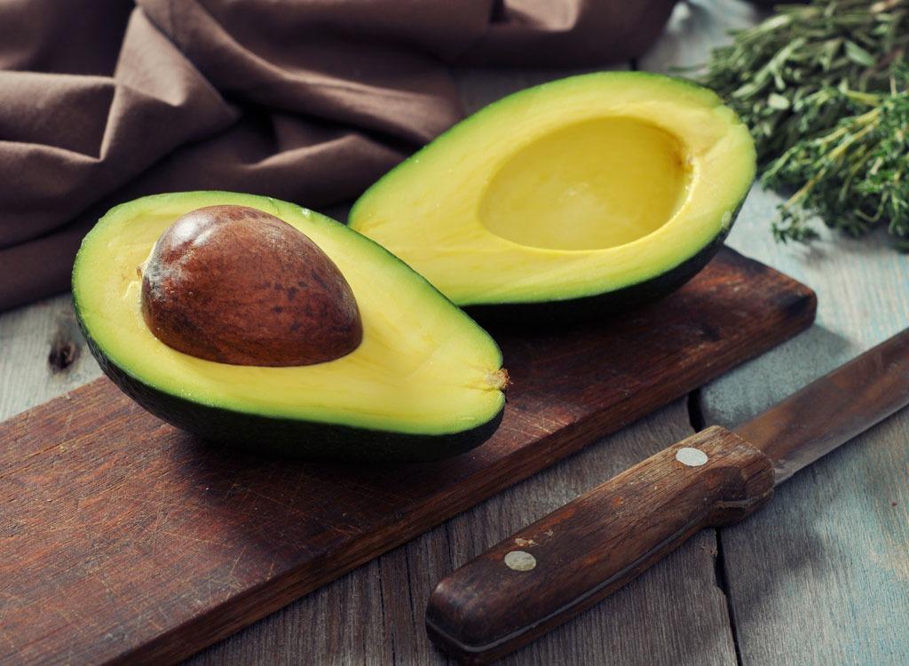 Avocado halves knife