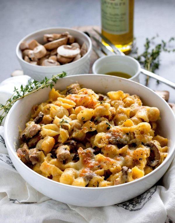 mushroom & white truffle mac and cheese