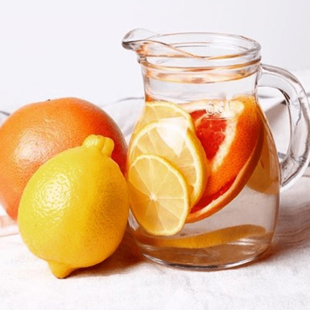 orange lemon mint water