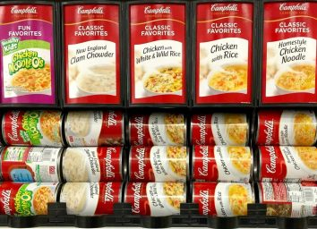Cans of Campbell's soup