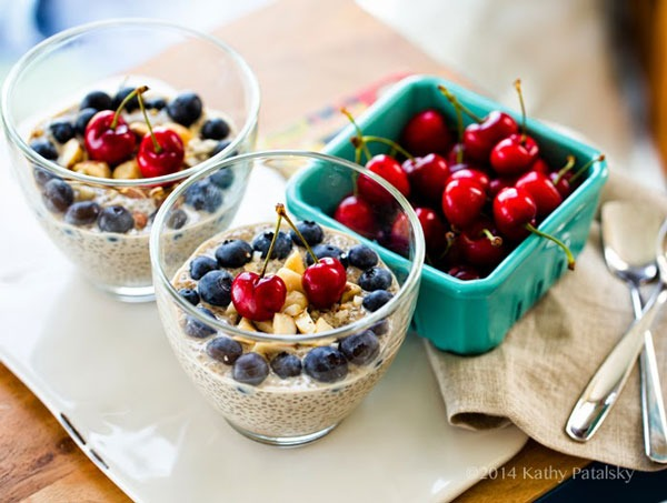 chia pudding recipes cherry berry chia seed pudding