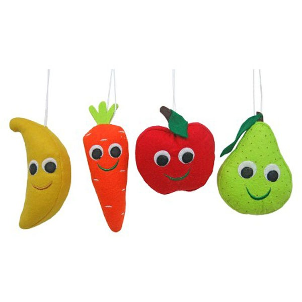 Assorted produce ornaments