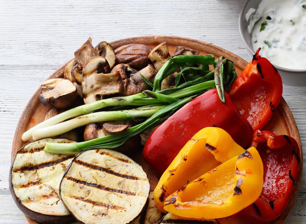 grilled veggies with tzatziki
