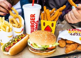 burger king sandwich fries and drink