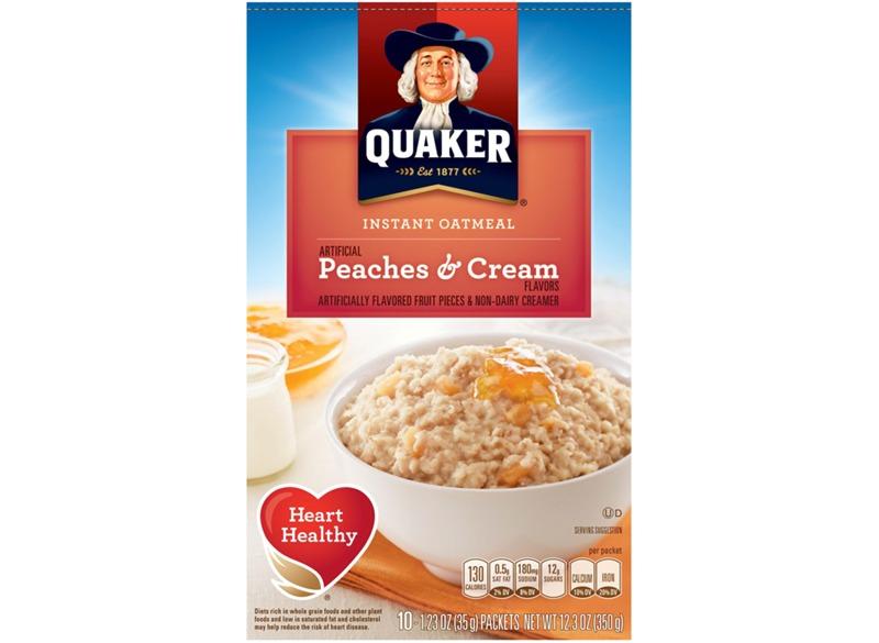 Quaker Instant Oatmeal Peaches and Cream