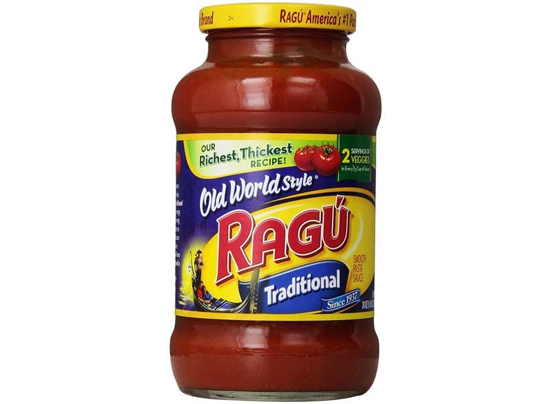 Ragu's traditional tomato pasta sauce