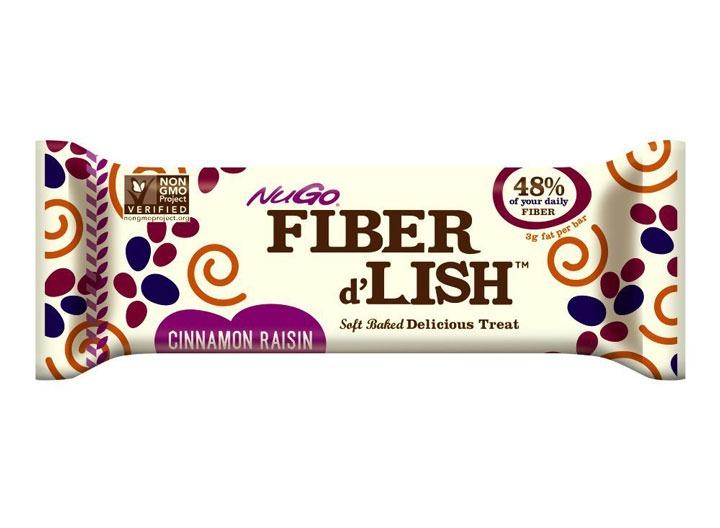 nugo fiber dlish cinnamon raisin bar