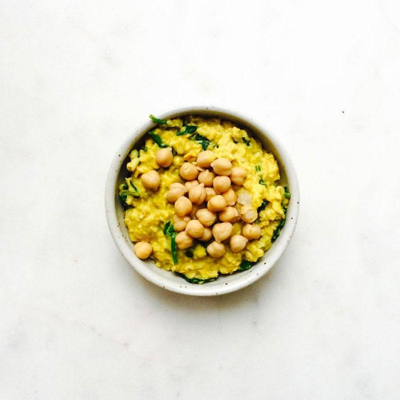Savory oatmeal thefullhelping turmeric