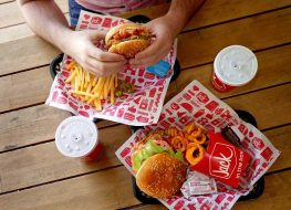 Jack in the Box burgers and fries