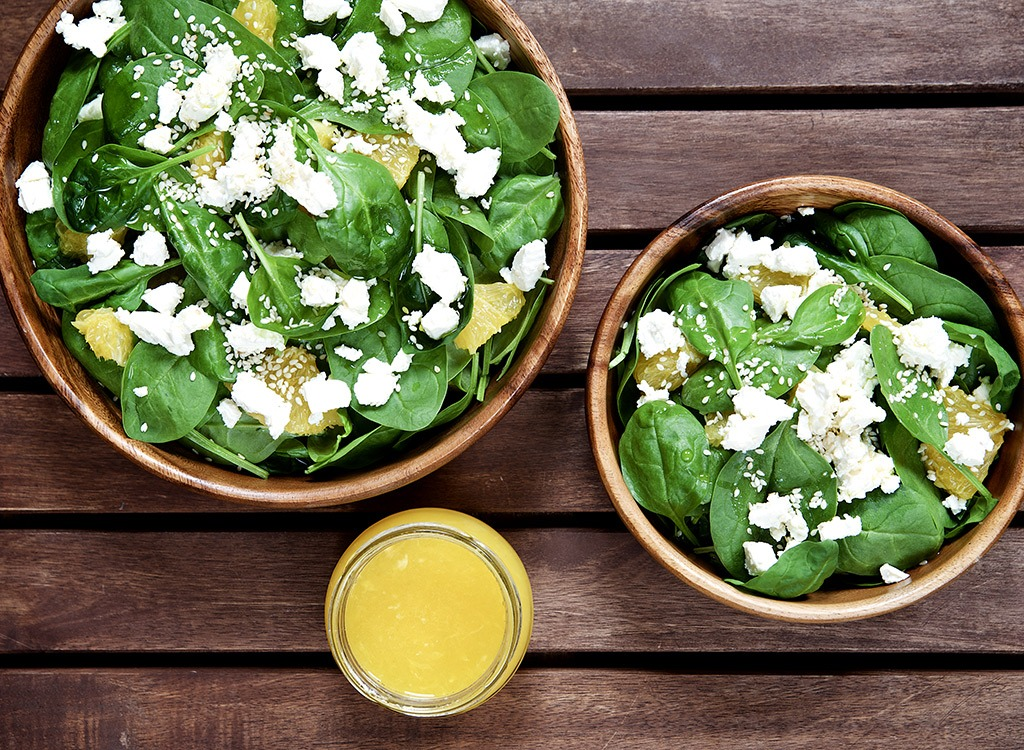 Healthy cook spinach