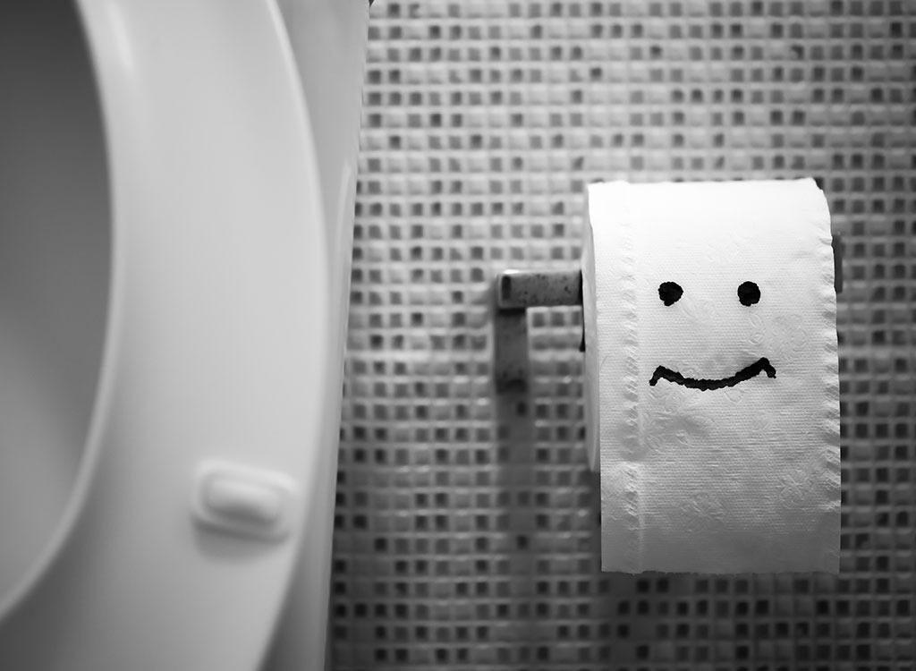 Bathroom toilet paper