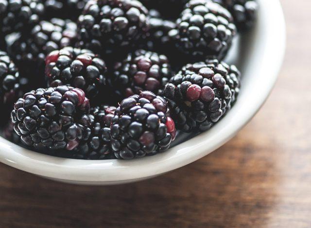 Sugary fruits ranked Blackberries