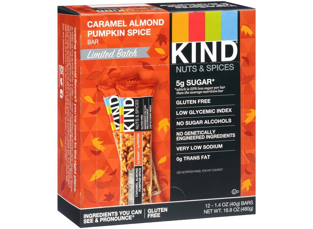 kind caramel almond pumpkin bars