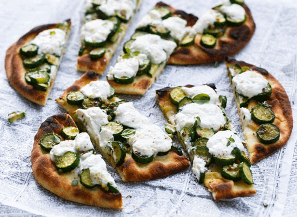 zucchini ricotta flatbread