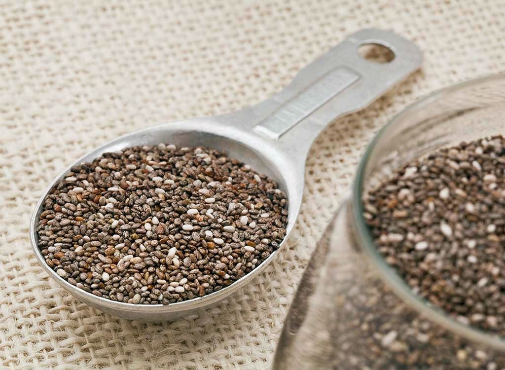 chia seeds measured