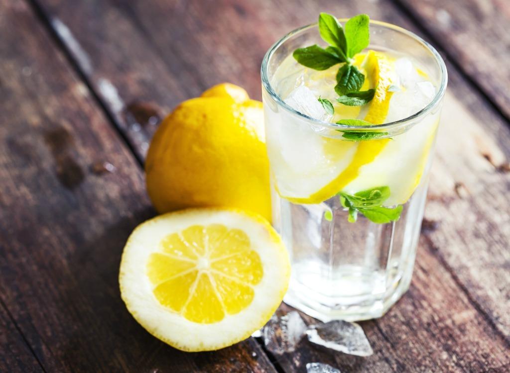 best hangover cure foods - lemon water