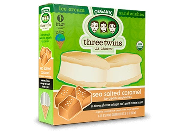 three twins sea salted caramel ice cream sandwich