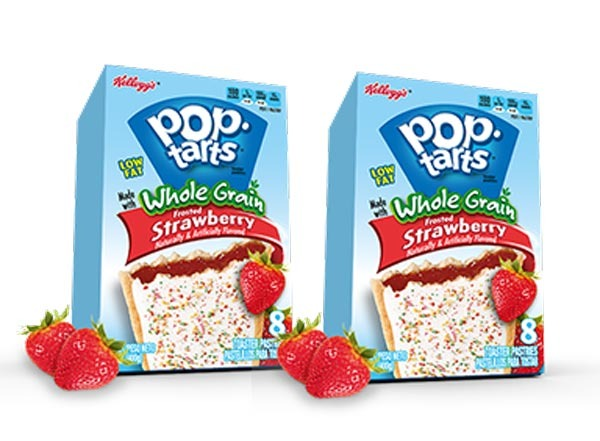 pop-tarts, low fat frosted strawberry  with whole grain and fiber