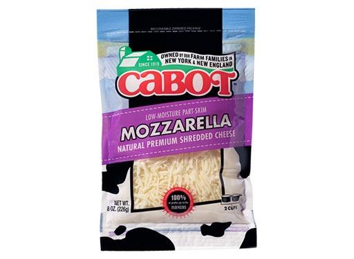 Cabot Creamery Part-Skim Mozzarella Natural Premium Shredded Cheese