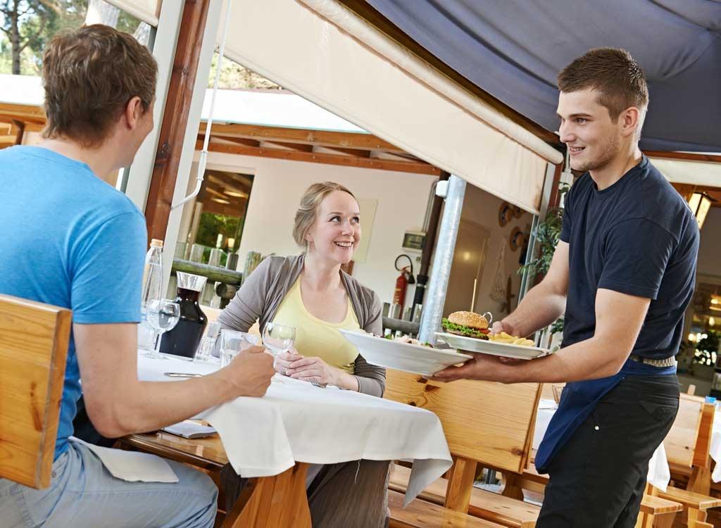 Waiter at restaurant